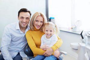 family at dentist